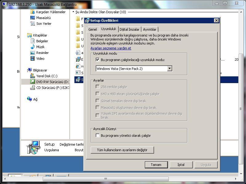 Sorun:Exchange 2007 SP1 Mailbox Role Installation Hatası– Hata Kodu:An error occurred. The error code was […]