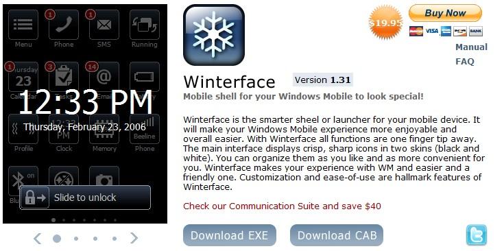 Communication Suite Version 1.8 Windows Mobile işletim sistemi bulunan cep telefonlarınız içinmükemmel bir yükseltme.Suite Winterface, […]